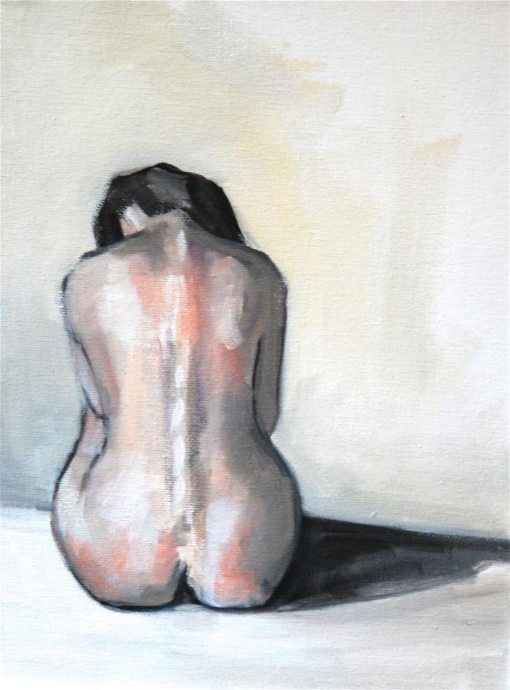 """Seated Nude II"" original fine art by Christina Dowdy"