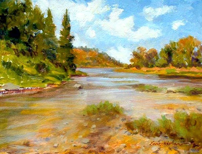 """SIERRA STREAM"" original fine art by Dj Lanzendorfer"