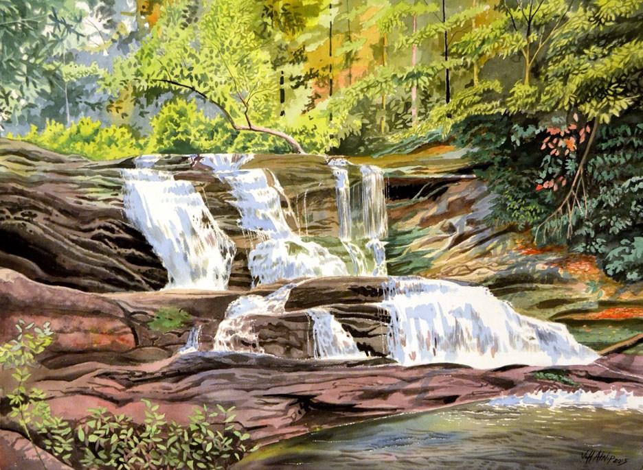"""Conasauga Falls"" original fine art by Jeff Atnip"