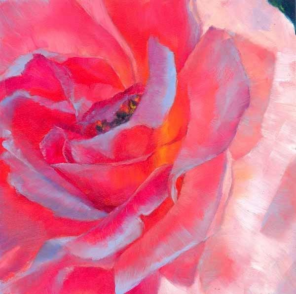 """""""Brazen Blossom"""" original fine art by Brenda Ferguson"""