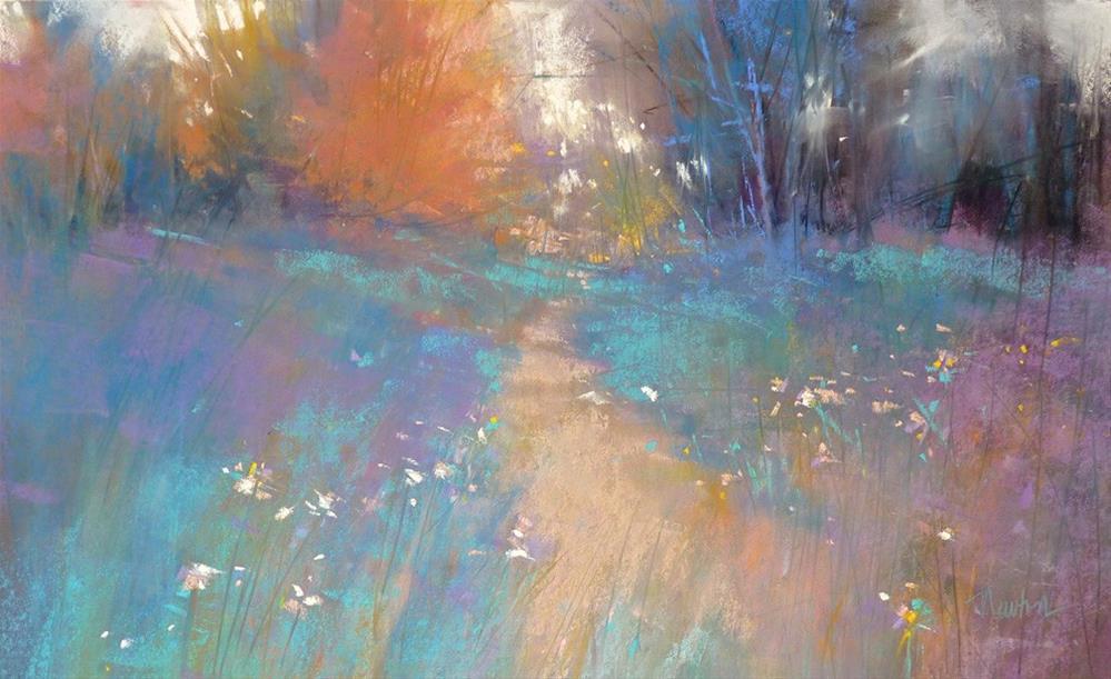 """""""Rejoice, pastel, 11x18 inches"""" original fine art by Barbara Benedetti Newton"""