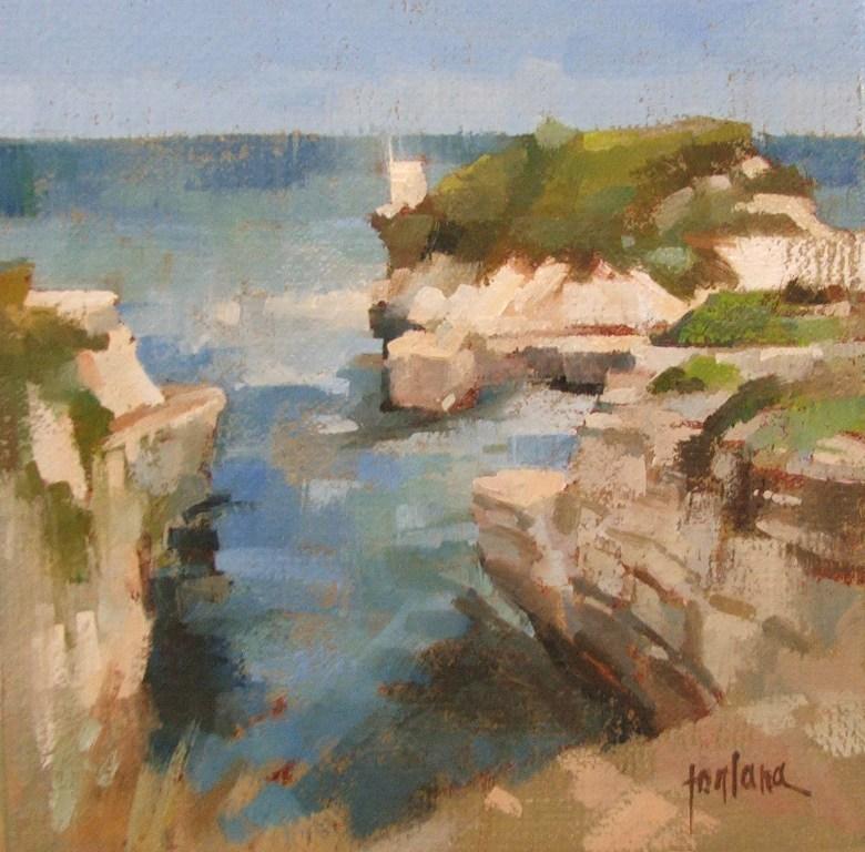 """""""Cliffs of Salento"""" original fine art by Francesco Fontana"""