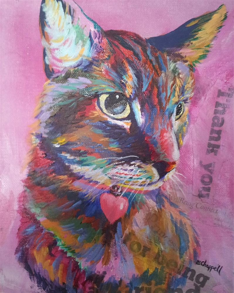 """Pinky"" original fine art by Becky Chappell"