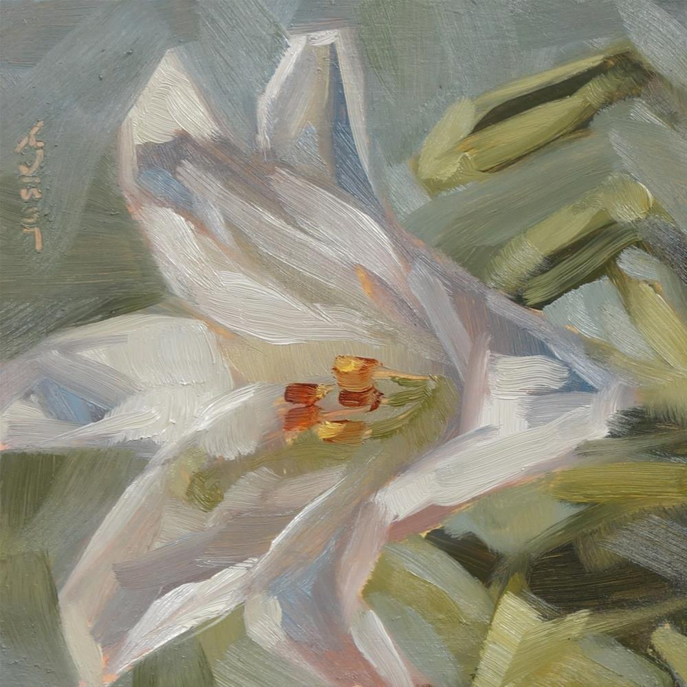 """Study of an Easter Lily"" original fine art by Elaine Juska Joseph"