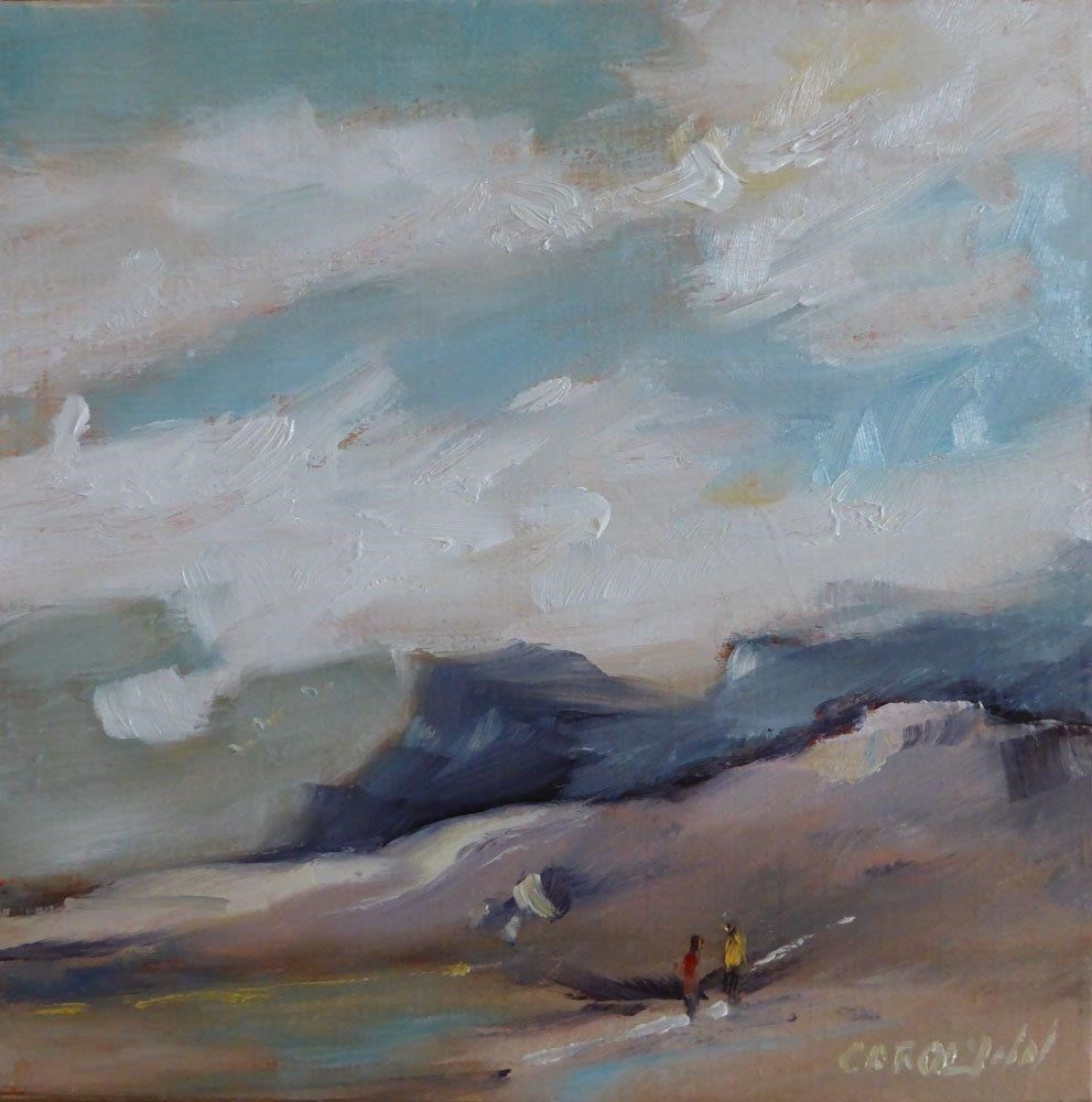 """Beach Combing"" original fine art by Carolynn Doan"