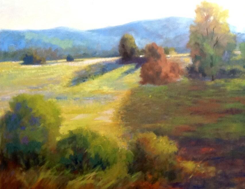 """""""Sunlit Fields"""" original fine art by Jean Fitzgerald"""