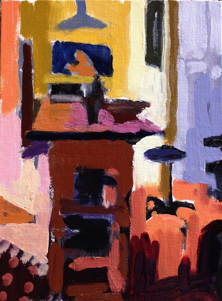 """Yellow Kitchen I"" original fine art by Pamela Hoffmeister"