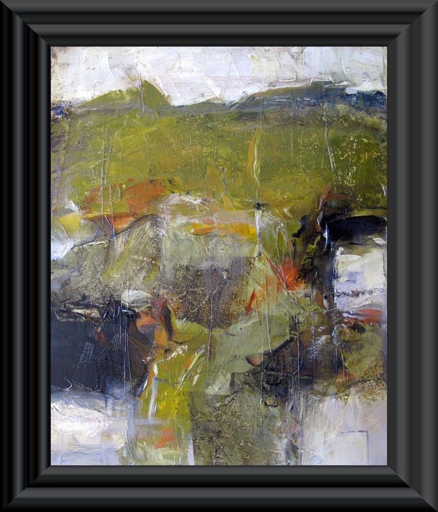 """GREENWICH VILLAGE Original ABSTRACT Art Painting OIL"" original fine art by Colette Davis"