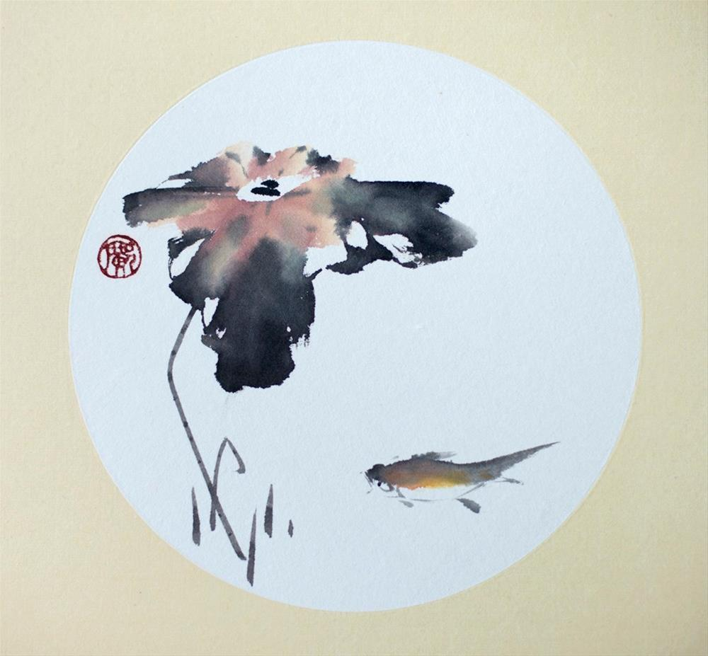 """Lotus"" original fine art by R kwong"