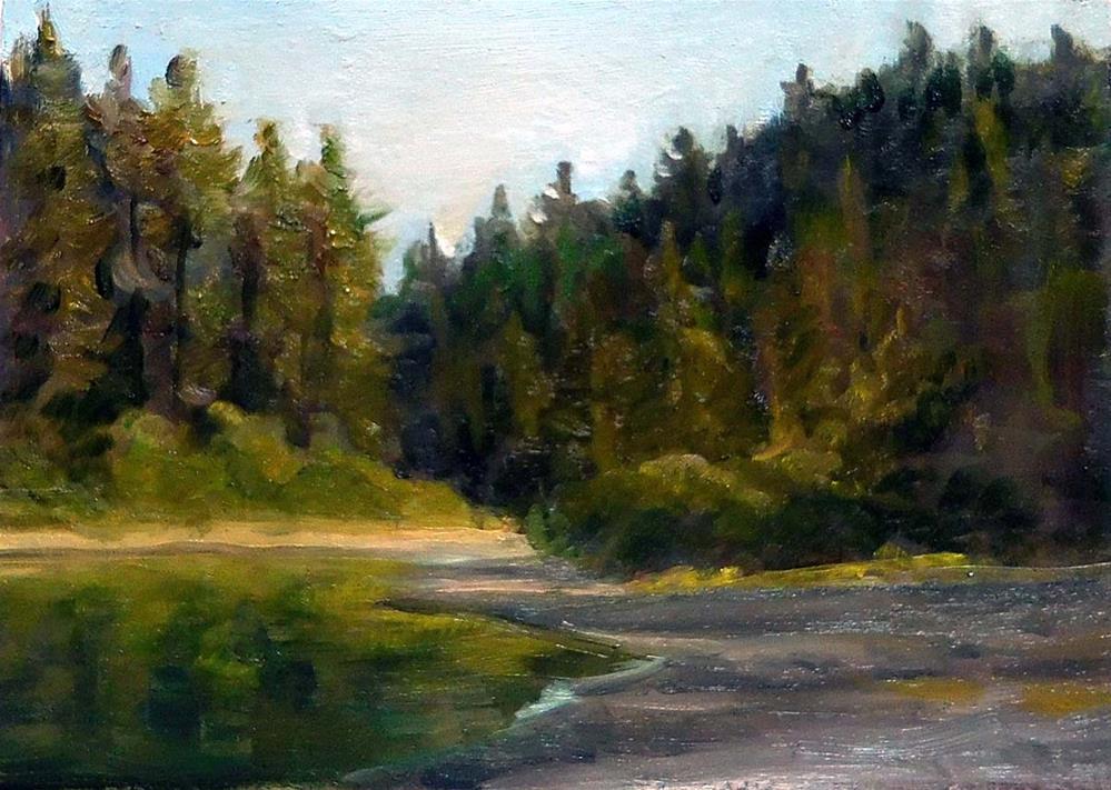 """Down By The Riverside"" original fine art by Cietha Wilson"