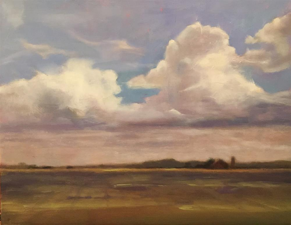 """Thunderheads, 14x11"" original fine art by Ann Feldman"