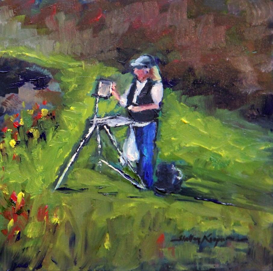 """The Artist"" original fine art by Shelley Koopmann"