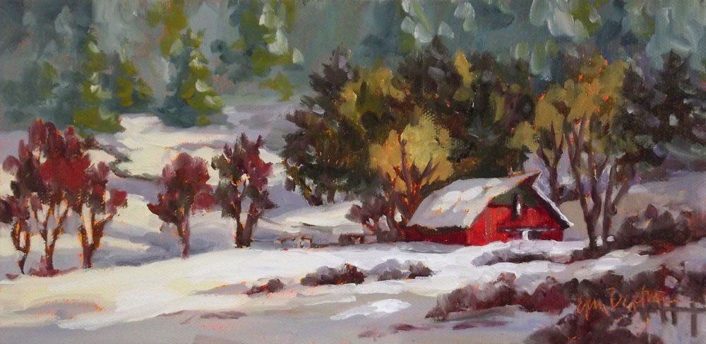 """Snowy Blanket"" original fine art by Erin Dertner"
