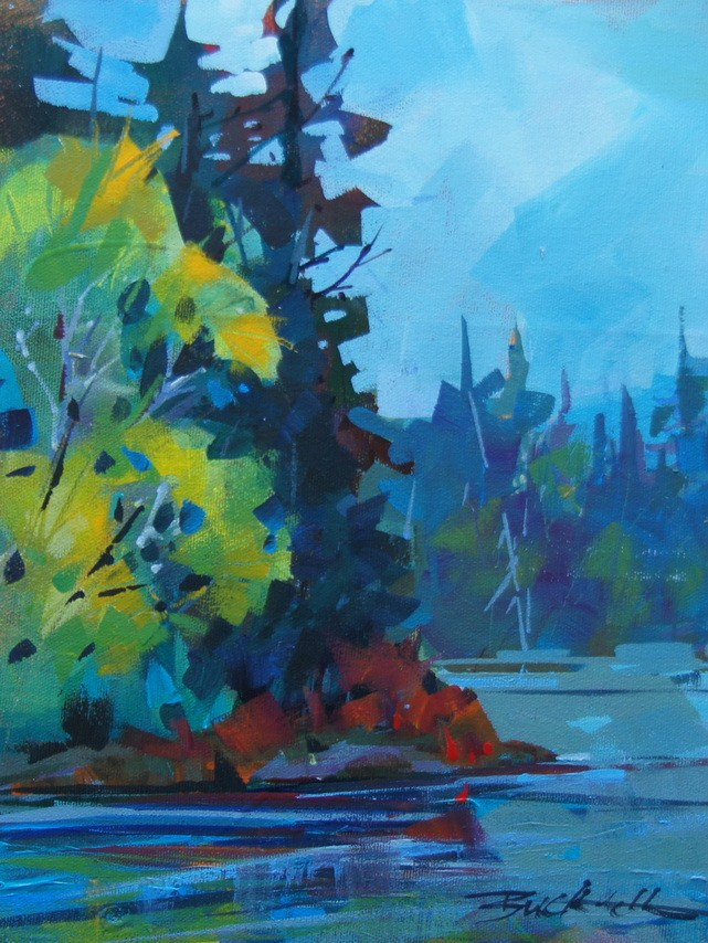 """Algonquin Spring Sketch"" original fine art by Brian Buckrell"