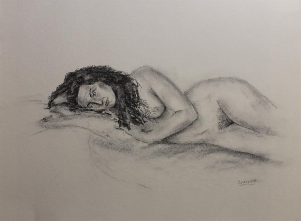 """Nude Reclining"" original fine art by Daniel Varney"