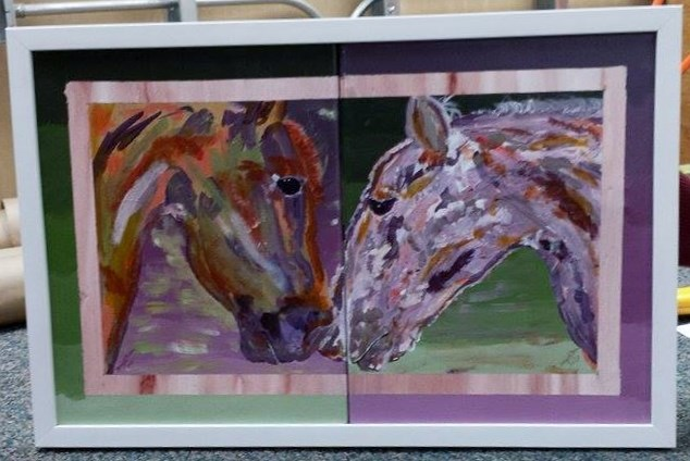 """Horsin' Around"" original fine art by Gary Price"
