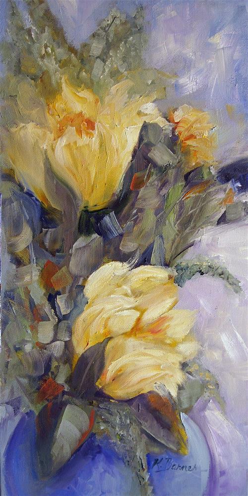 """Parrot Tulips"" original fine art by Kathleen Barnes"