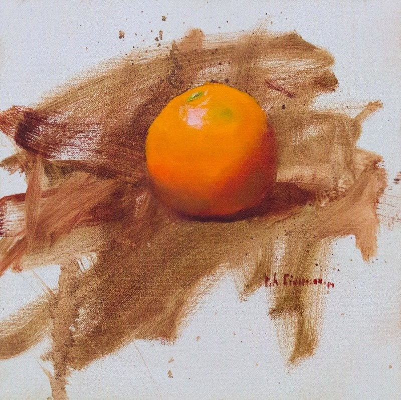 """Orange study"" original fine art by Thorgrimur Andri Einarsson"