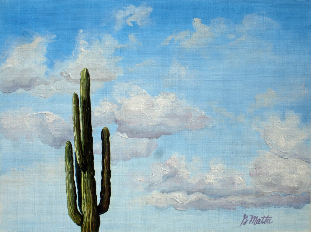 """it's lonely at the top"" original fine art by Gretchen Matta"
