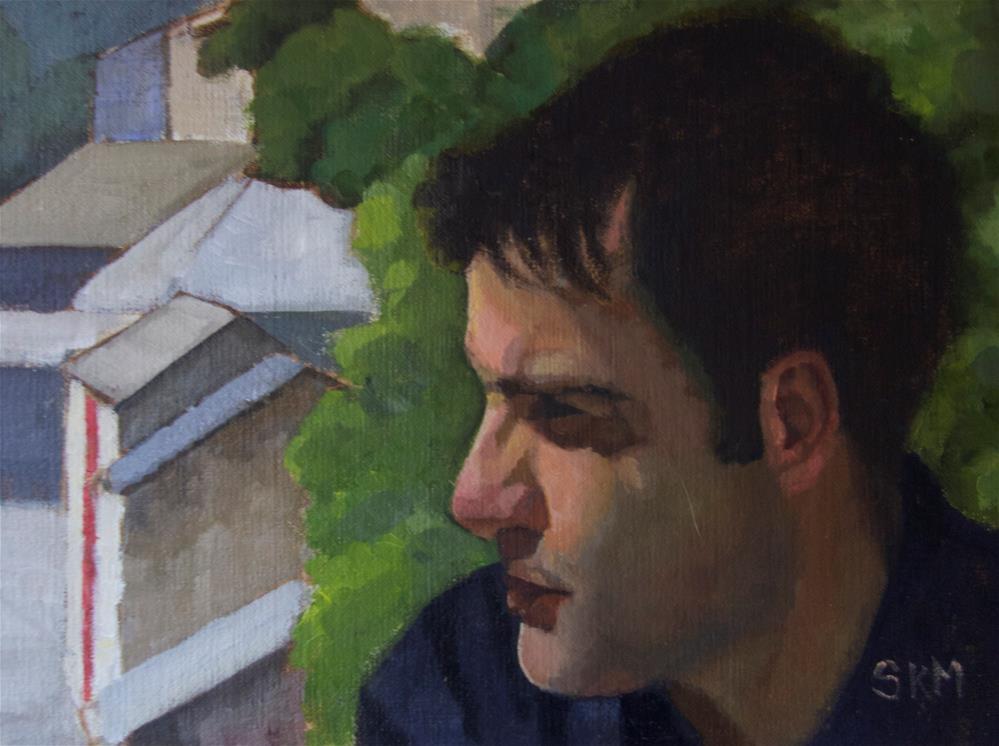 """Croatian boy"" original fine art by Sarah Meredith"