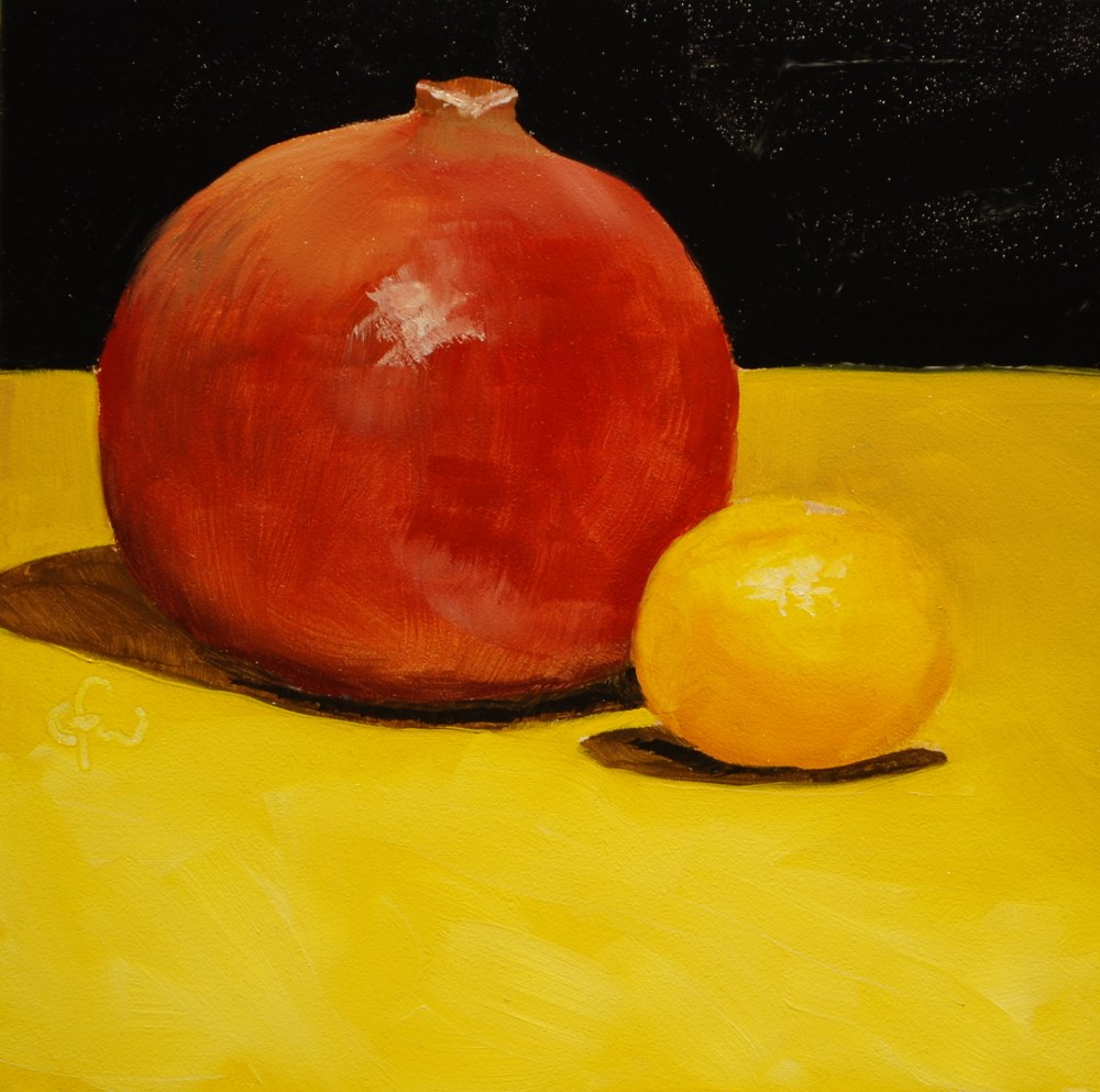 """Pomegranate and Clementine"" original fine art by Gary Westlake"