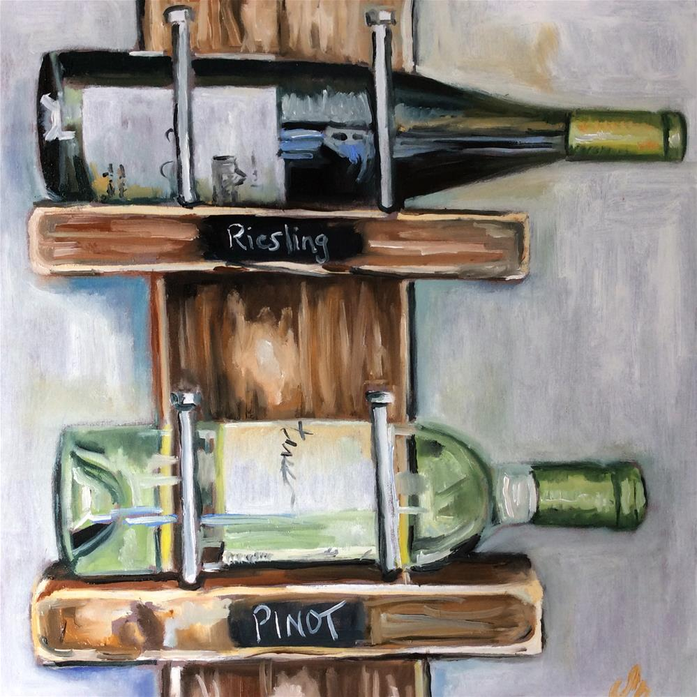 """Wine rack"" original fine art by Sonja Neumann"