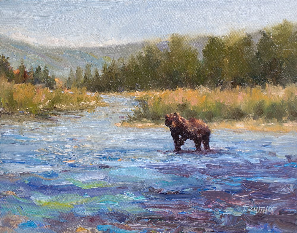 """Alaskan Sparkle"" original fine art by Todd Zuithof"