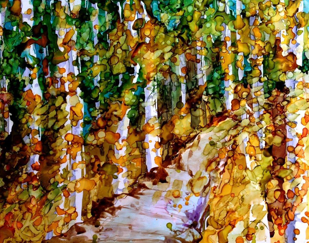 """""""Forest walk"""" original fine art by Kristen Dukat"""