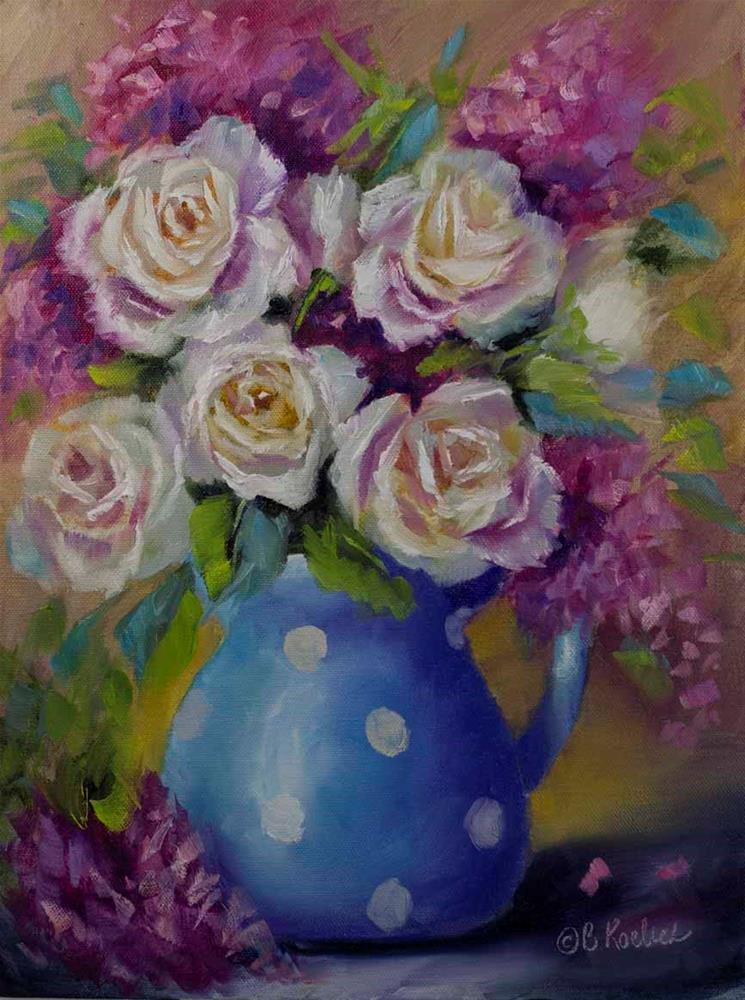 """Polka Dot Splendor"" original fine art by Bobbie Koelsch"
