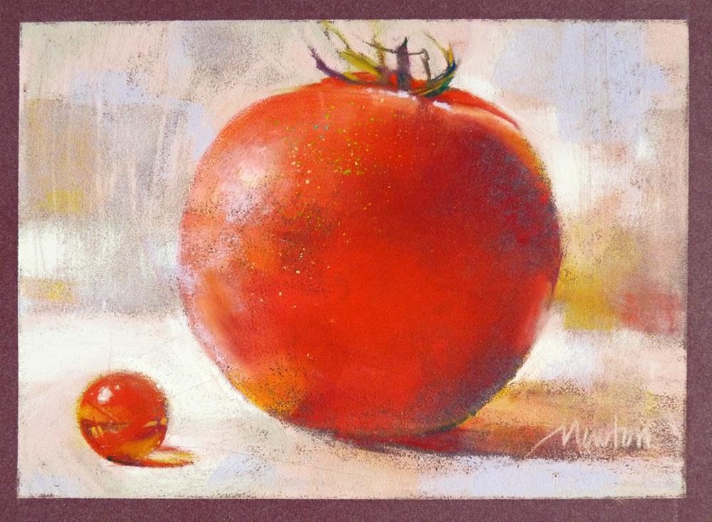 """""""Marble and Tomato - RED"""" original fine art by Barbara Benedetti Newton"""