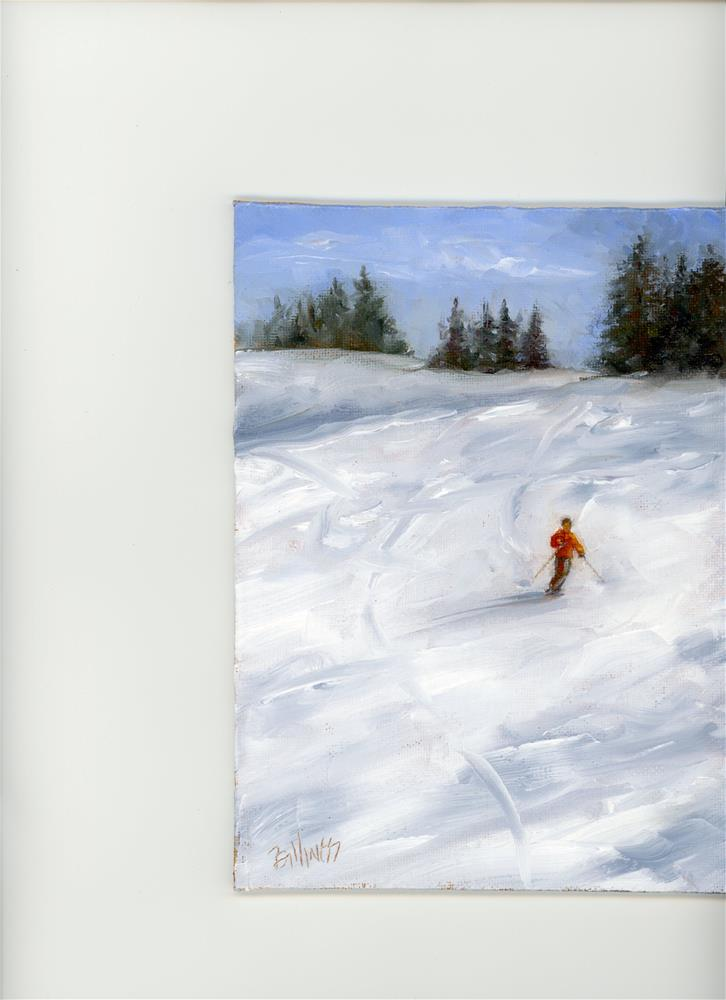 """Downhill I"" original fine art by Susanne Billings"