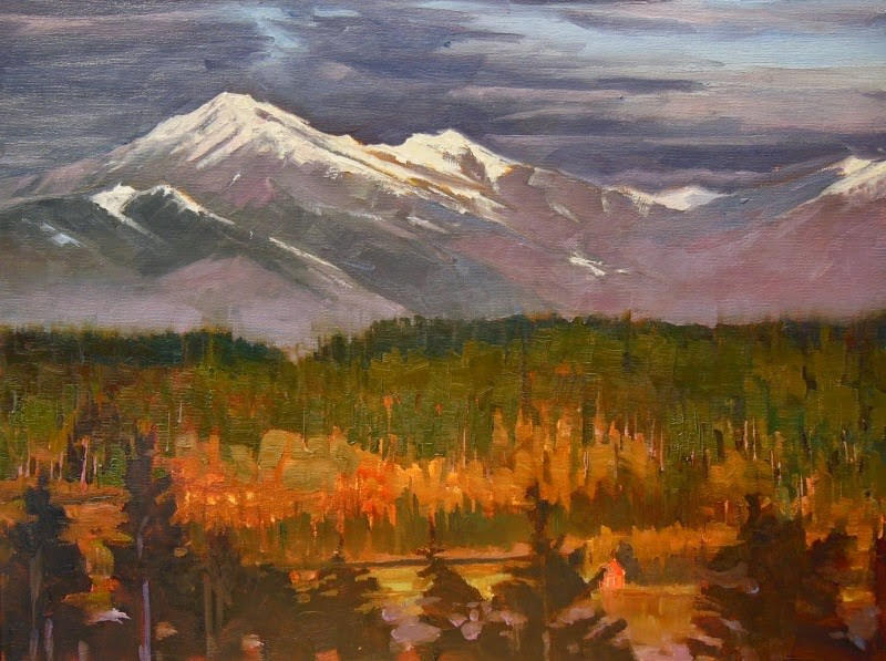 """Olympic View  commission , oil, landscape painting by Robin Weiss"" original fine art by Robin Weiss"