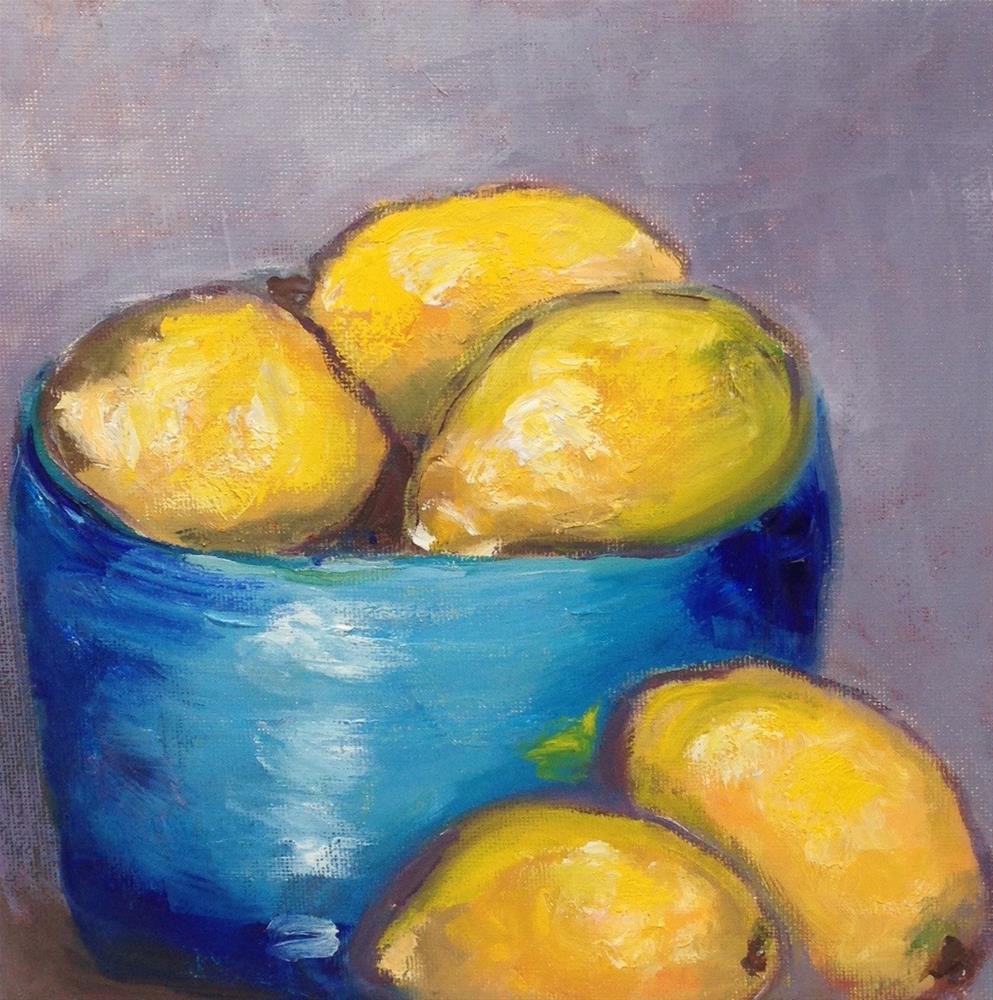 """Lemons"" original fine art by Gayle Lambeth"