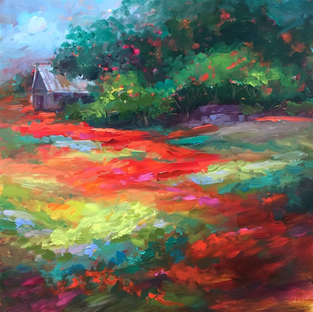 """Wildseed Poppies - Nancy Medina Art"" original fine art by Nancy Medina"