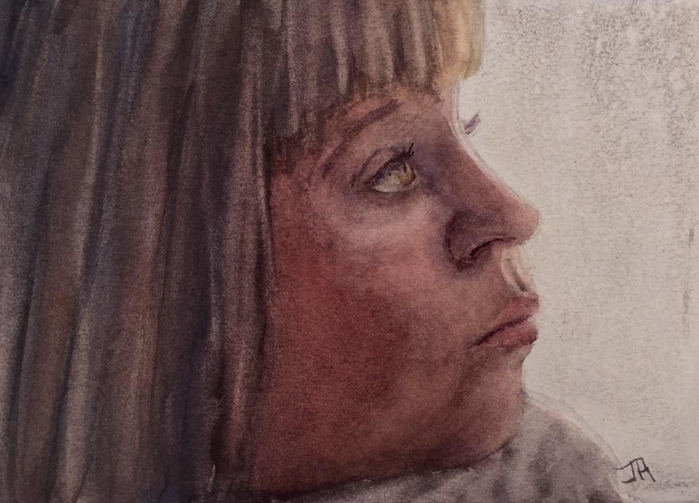 """Watching & Waiting"" original fine art by June Rollins"