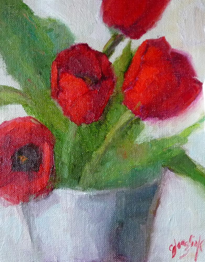 """Tulips for Challenge"" original fine art by Carol Josefiak"