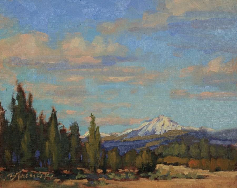 """""""Freshly Fallen Mountaintop Snow"""" original fine art by Barbara Jaenicke"""