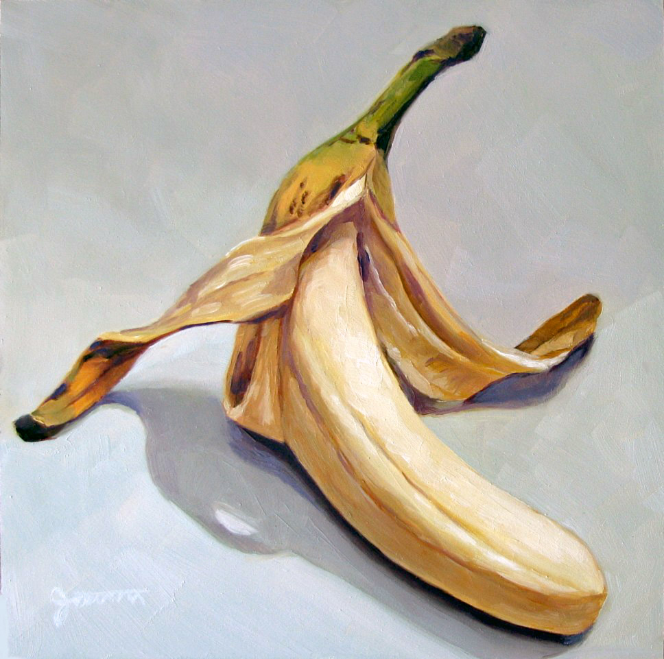 """Self Tanning Banana"" original fine art by Joanna Bingham"