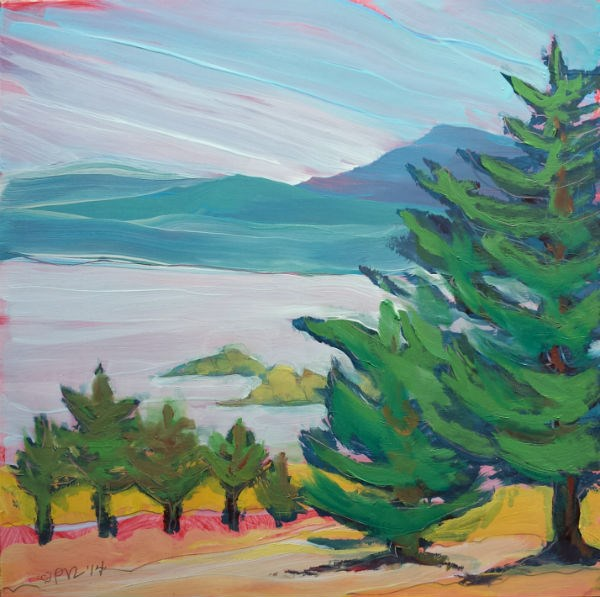 """Valley Morning 21"" original fine art by Pam Van Londen"