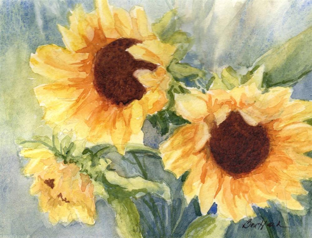"""Sunflowers"" original fine art by Vikki Bouffard"