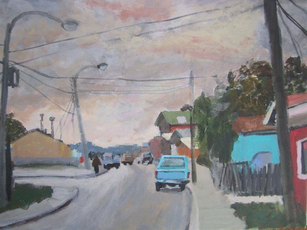 """Chile Streetscape"" original fine art by Christine Parker"