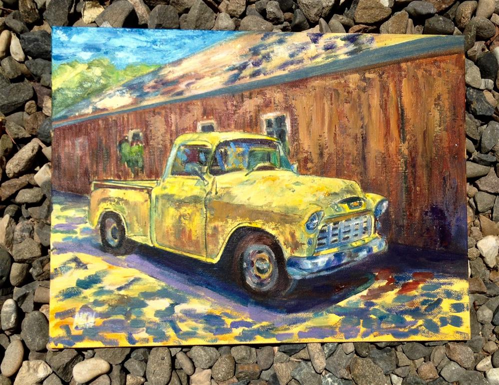 """1955 CHEVY GORGEOUS"" original fine art by Nina K. Nuanes"