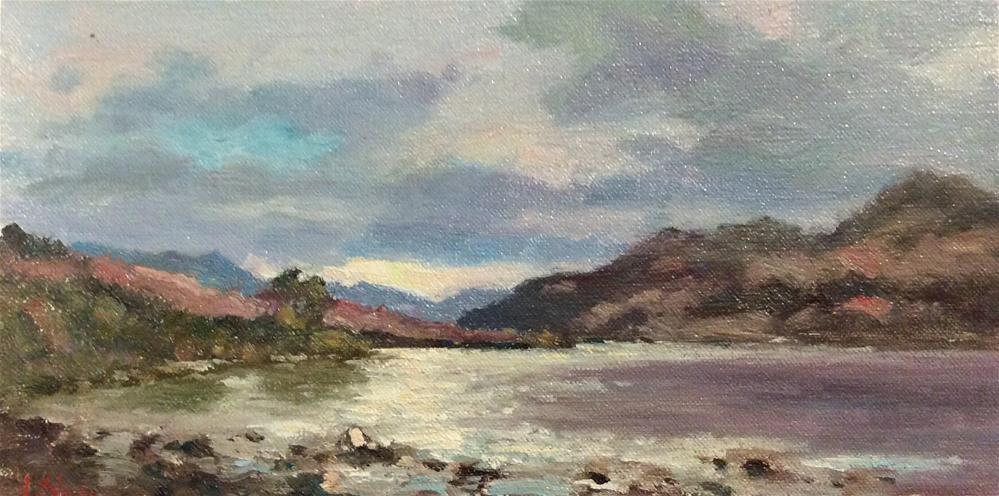 """Beside The Lake"" original fine art by John Shave"