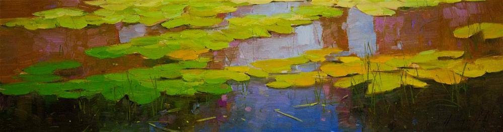 """Water Lilies Fall Original oil Painting One of a Kind"" original fine art by V Yeremyan"