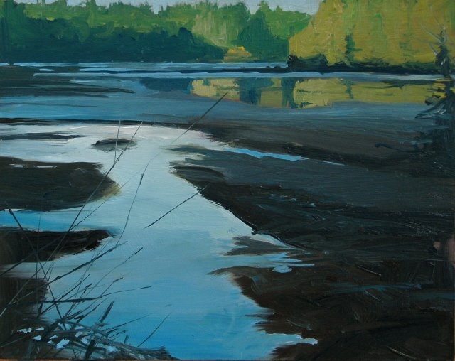 """Tide Flats  oil landscape painting"" original fine art by Robin Weiss"