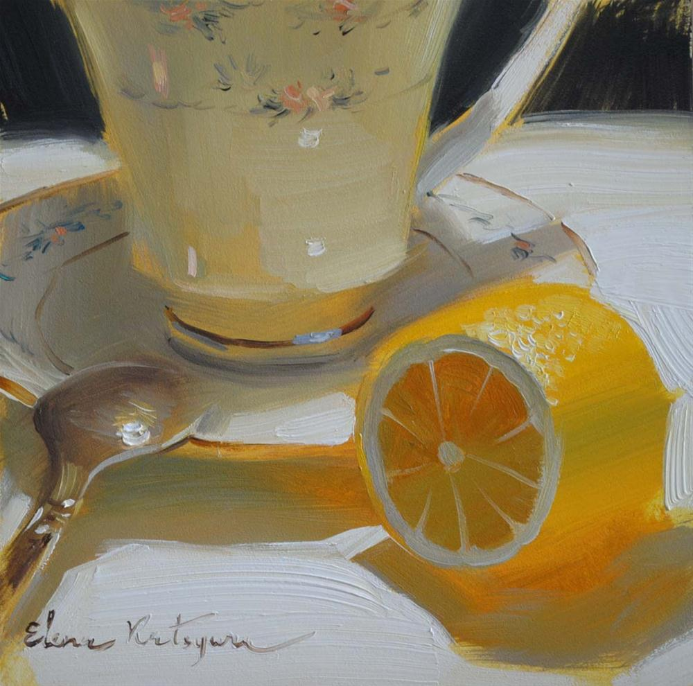 """Lemon Royalty"" original fine art by Elena Katsyura"