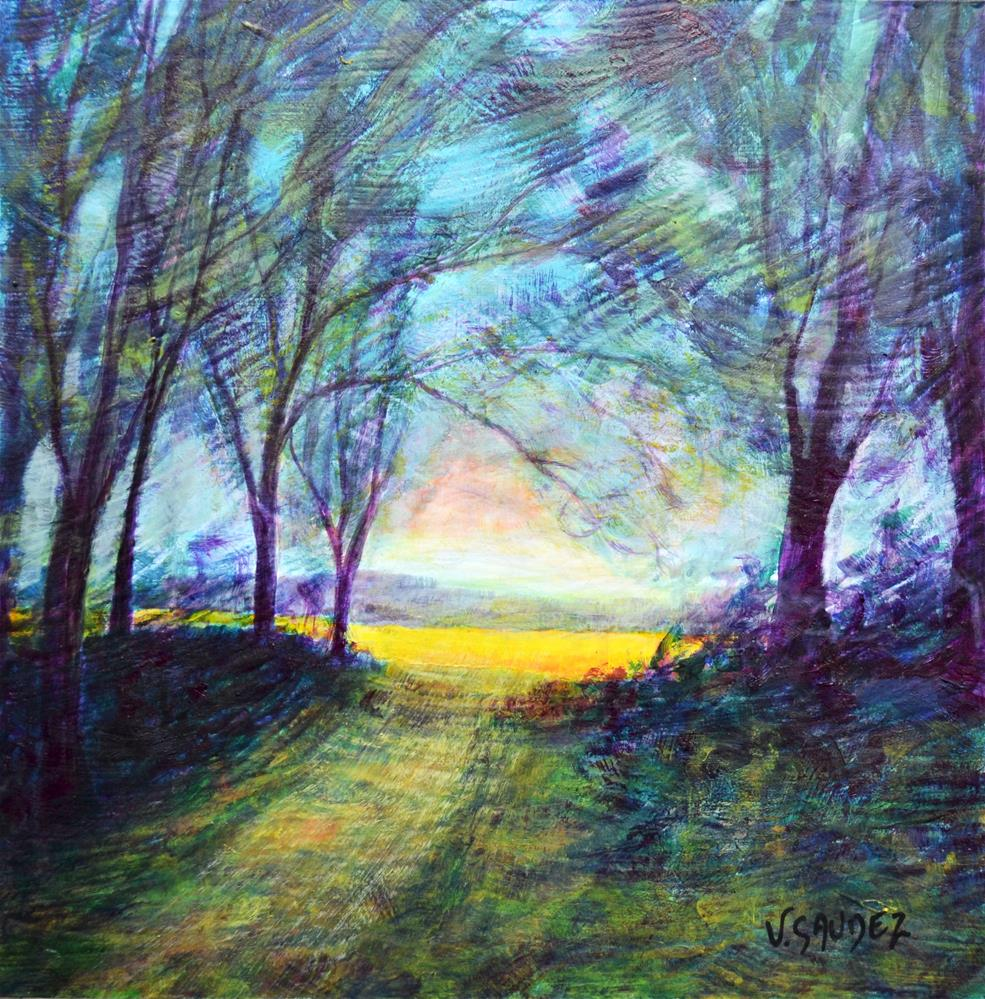 """Summer in Ardennes (Autry)"" original fine art by Véronique Saudez"