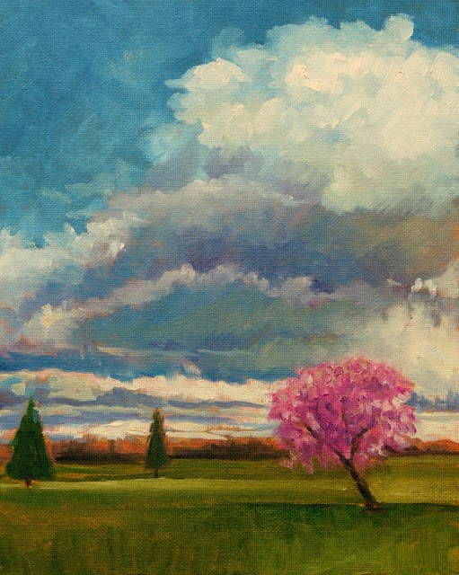"""Clouds and silver linings"" original fine art by Hilary J. England"
