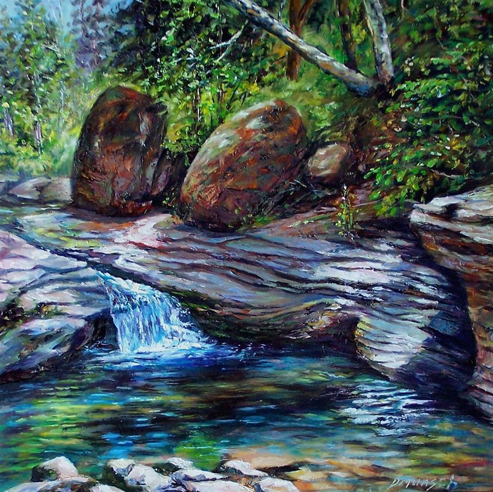 """Boulder Wash"" original fine art by Donna Munsch"