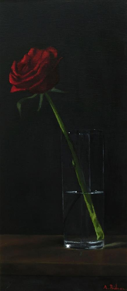 """Red Rose"" original fine art by Amanda Bilson"